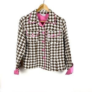 3 Sisters Blazer Jacket Size S Brown Pink